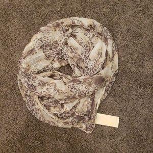 Cream printed infinity scarf